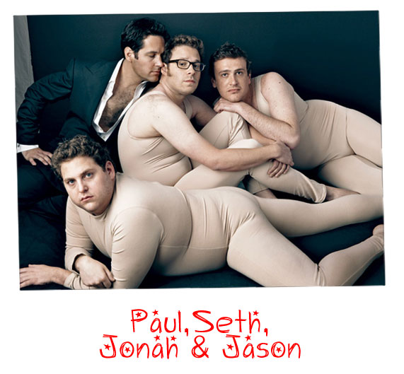 Paul Rudd Seth Rogan Jonah Hill Jason Segel